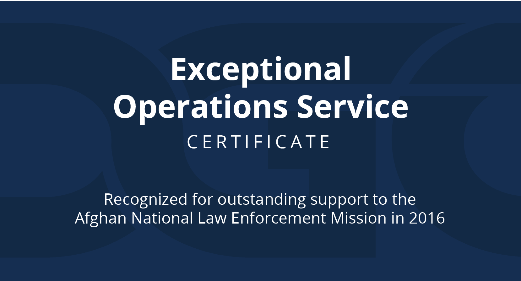 Exceptional Operations award banner