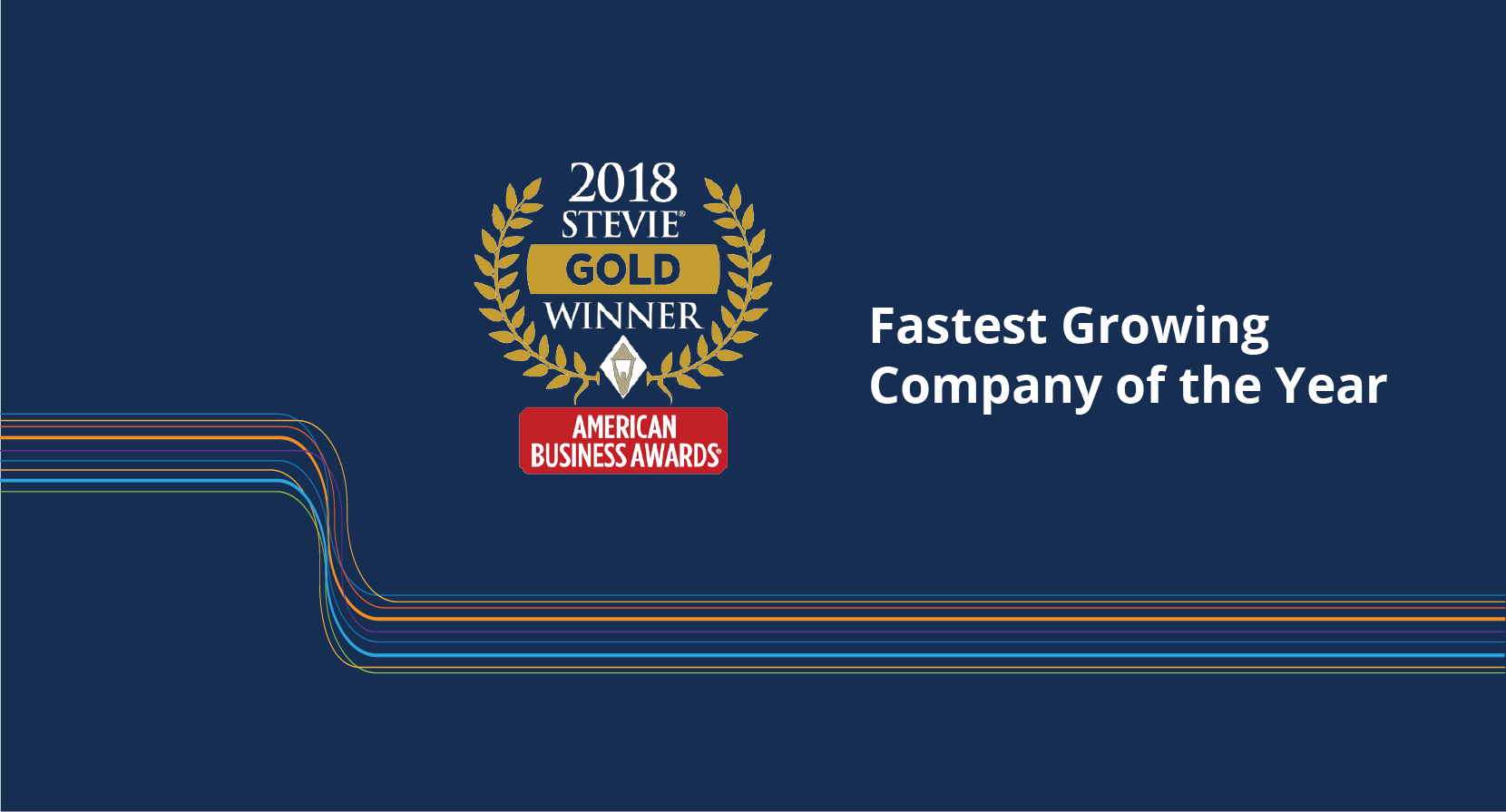 fastest growing company of 2017 award banner