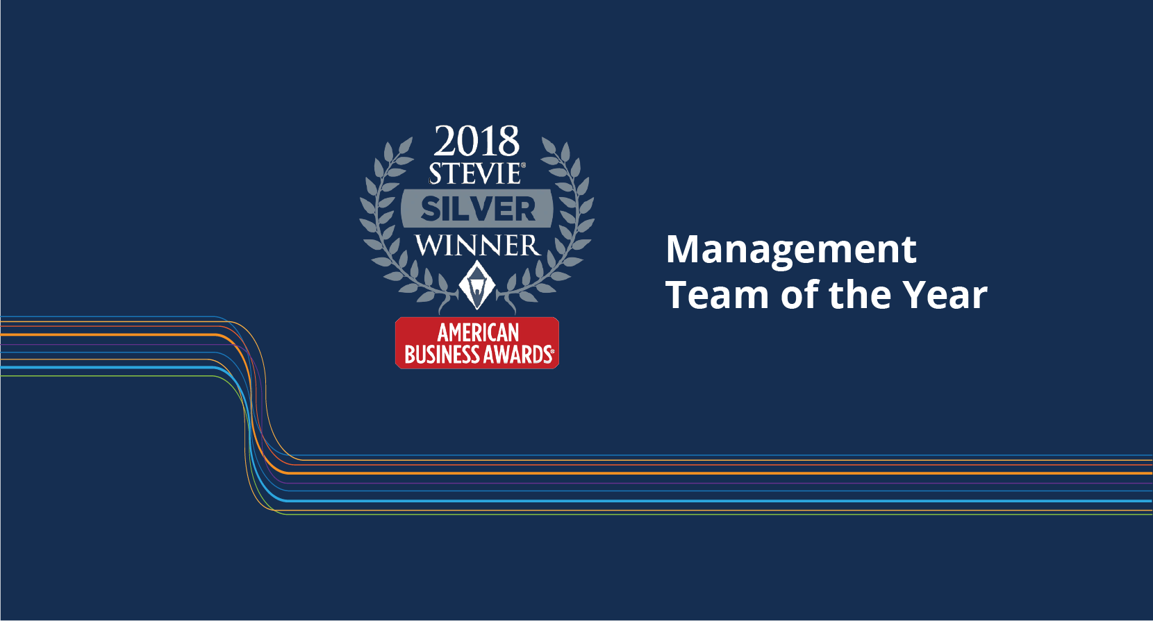 Management Team of the Year award banner for 2018