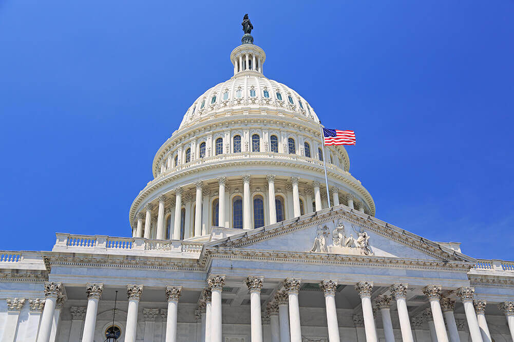Image depicting United States capitol building in Washington DC